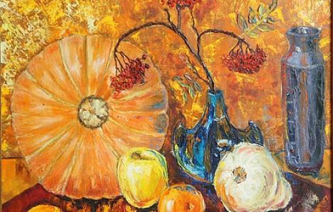 «Осенний натюрморт » Лигай Н.В., х.м., размер 70/70, 2005 г., Цена 400000т