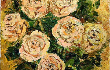 «Розы» — Лигай Н.В., х.м., размер 70/60, 2014, Цена 90000 т.